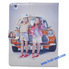 Cute Kids Magnetic Leather Case for iPad 2