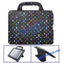 Unique LV Design Stand Leather Case Handbag Cover for iPad 2