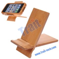 100% Real Bamboo Stand For Apple iPhone 4 (Natural bamboo handcrafted)