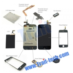 iPhone 3G Full Display Assembly,LCD digitizer and other Spare Parts