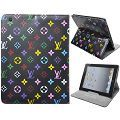 LV Brunet Pattern Leather Stand Case for iPad2