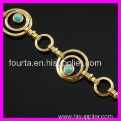fallon fashion 18K gold plated turquoise bracelet