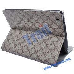 Gucci Style Smart Cover Leather Case for iPad 2(Grey)