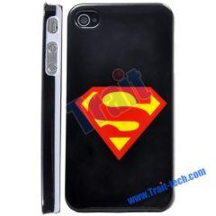 Superman Mark Hard Case for iPhone 4 (Black)