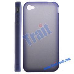 Transparent Soft TPU Case for iPhone 4 (Purple)