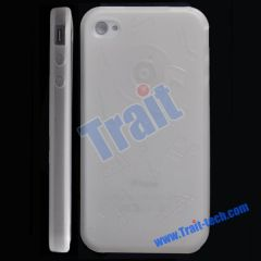 TPU Gel Case Cover for iPhone 4 (White)