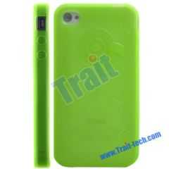 TPU Gel Case Cover for iPhone 4 (Green)