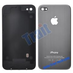 Durable Fashion Battery Cover Back Housing With Logo Apple for iPhone 4(Sliver)