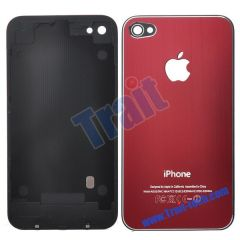 Durable Fashion Battery Cover Back Housing With Logo Apple for iPhone 4(Red)