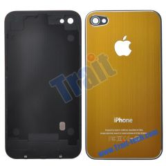 Durable Fashion Battery Cover Back Housing With Logo Apple for iPhone 4(Golden brown)