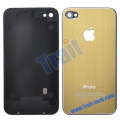 Durable Fashion Battery Cover Back Housing With Logo Apple for iPhone 4(Champagne gold)