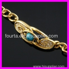 18K gold turquoise bracelet