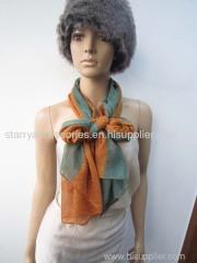 50% polyeater 50% acrylic green woven scarf