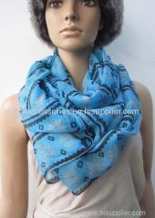 50% polyester 50% acrylic woven scarf