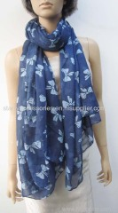 50% polyester 50% acrylic printed woven scarf