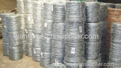 heavily galvanized barbed wire