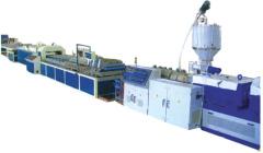 pe wood plastic production line