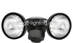 180 Degree Motion Activated Floodlight with Bulb Shields
