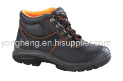 Embossed Split Leather CE Slip On Safety Shoes