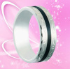 Tungsten Gold Ring Resin Inlay for Men