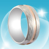 2011 Latest 10 Karat Tungsten Gold Wedding Rings