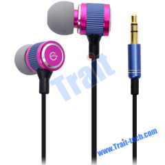 Hot Pink 3.5mm Stereo Jack In-Ear Earphone Headphone with 1.2M Cable for MP3/ MP4/ iPod/ iPhone(CK-800)