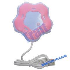 Flower Shaped USB 2.0 High Speed Mini 4-Port Hub Adapter