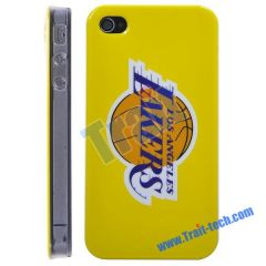 Losangeles Lakers NBA BasketBall Club Pattern Hard Case for iPhone 4