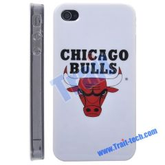 Chicago Bulls NBA BasketBall Club Pattern Hard Case for iPhone 4