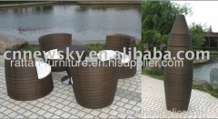 outdoor rattan furniture round sofa set