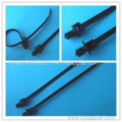 Pine tree wire cable tie