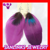 Purple Jaderic Bohemia Styles Feather Earrings