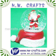 Cute Santa Clause Standing on Christmas Hat Gift