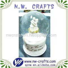 White Wedding Water Globes Souvenirs