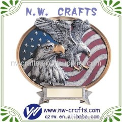 Soaring Bald Eagle with US Nation Flag Awards