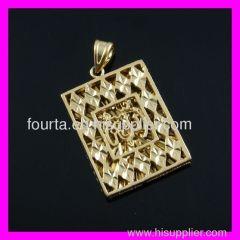 fallon jewelry gold plating muslim pendant