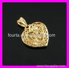muslim peach heart pendant