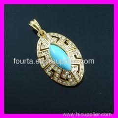 Fashion gold plated FJ pendant