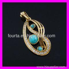 iraq jewelry turquoise pendant