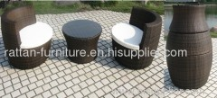 wicker outdoor furniture dinner set with 2 chairs