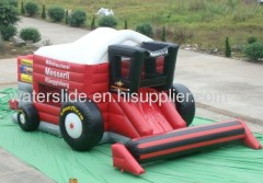 truck inflatable moon bounce