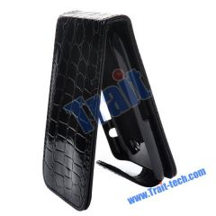 Crocodile Lines Flip Leather Case with Magnet Closure for BlackBerry Torch 9860