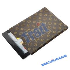 New LV Pattern Leather Pouch Case Cover for iPad 2