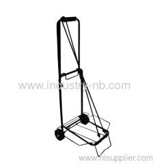 Folding baggage trolley
