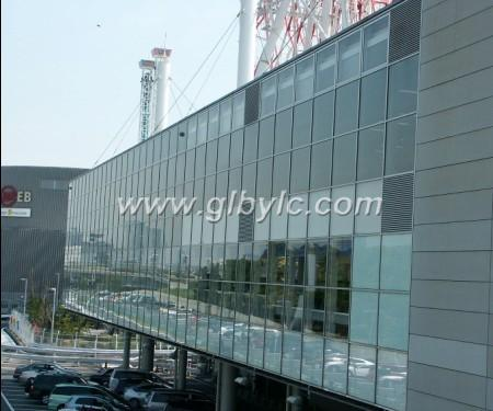 aluminum curtain glass wall window door from China