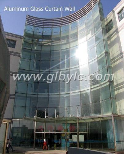 Anodized Aluminum Curtain Wall : Aluminum curtain glass wall from china manufacturer