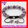 Fashion Shamballa Bracelets With Alloy And Swarovski Crystal Beads