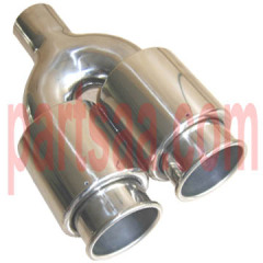 SS304 twin exhaust tip
