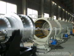 Gas supply pipe extrusion machine