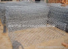 hexagonal wire mesh flood bank or guiding bank gabion